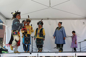 Native Americans perform at the 2015 Imagine RIT festival.