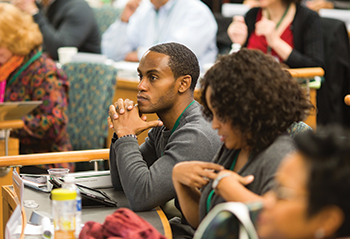 Students in the Minority Business Program in Dartmouth College's Tuck School of Business