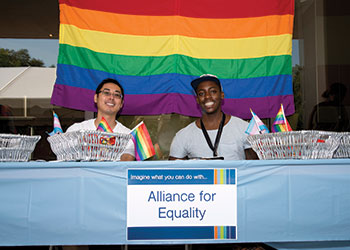 Students support MUSC's Alliance for Equality, an on-campus organization that provides support and advocacy for individuals of all sexual orientations and gender identities.