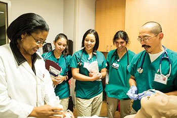 Nursing students at the University of California, San Francisco during a class (photo by Elisabeth Fall)