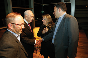 David Bernstein meets Shimon Peres, former president and prime minister of Israel.