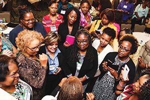 Women of color STEM educators attend Fielding Graduate University and the Society of STEM Women of Color's collaborative program Conclave Leadership Academy.