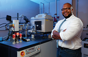 Charles Stewart Jr., who in 2000 became Science Bound's first graduate to earn a bachelor of science degree at Iowa State University and is now an associate scientist at the university