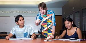 Students at MiraCosta College engage in hands-on learning in the Nordson STEM Learning Center.