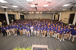 The Tiger Alliance, a group of 400 male high school students, at the 2018 annual Men of Color Summit at Clemson University.