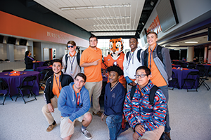 Tiger Alliance students from Carolina High School in Greenville tour the Clemson campus.