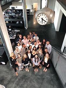 Students visit Avantgarde agency in Munich, Germany during the summer study abroad program International Advertising. (Juan Mundel/DePaul University)