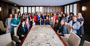 The Commission on the Status of Women includes members from each of UAB's 12 colleges and schools who serve as advocates for female employees and students.