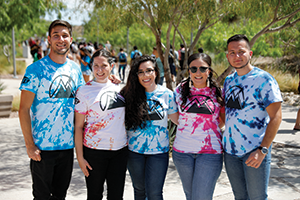 University of Texas at El Paso students kick off the spring 2018 semester. With 83 percent of students identifying as Hispanic and Latinx, enrollment closely matches that of the surrounding community.
