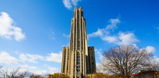 Photo of University of Pittsburgh's Cathedral of Learning