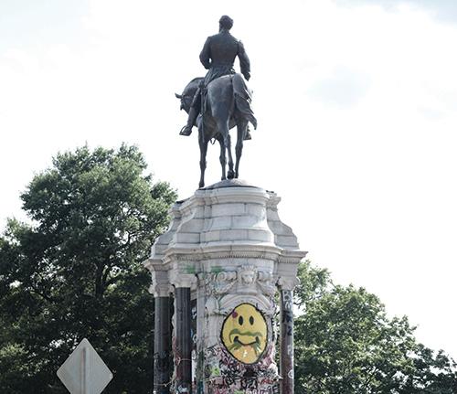 Confederate Gen. Robert E. Lee in Richmond, Virginia