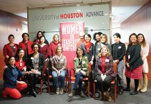 UH women faculty gather at the Center for ADVANCING UH Faculty Success. The center offers sustainable activities and programs that are part of a systematic effort to transform the university.