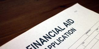 Photo of a Financial Aid Application form