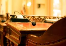 Photo of an empty seat in the U.S. Senate