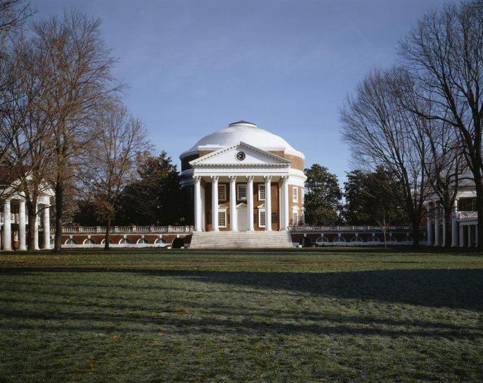 A photo of the rotunda at the University of Virginia.
