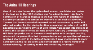 Text box about the Anita Hill Hearings