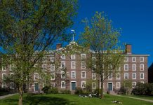 Photo of the University Hall at Brown University