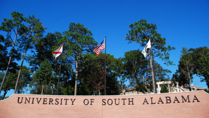 Photo of the University of South Alabama's campus