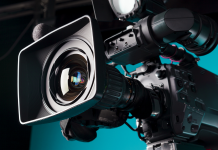 Photo of a movie camera