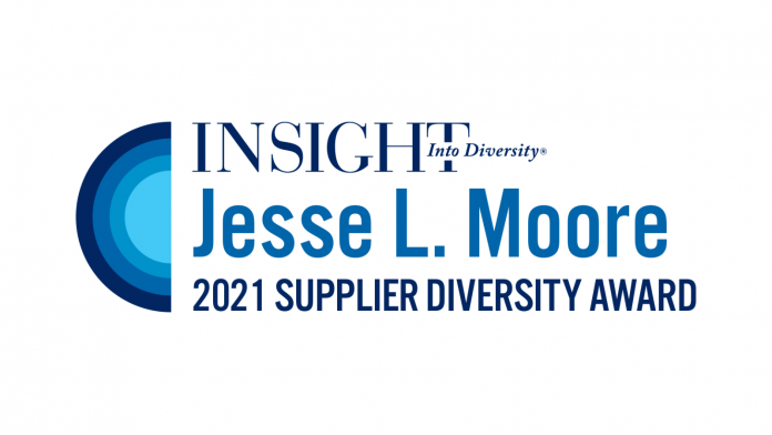 INSIGHT Into Diversity Jesse L. Moore Supplier Diversity Award logo