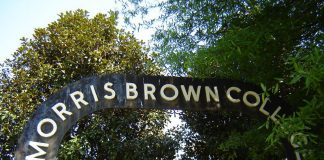 Photo of a sign at Morris Brown College