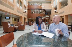 Students meet in Snead Hall, home of the VCU School of Business.