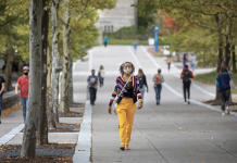 Cornell University campus in Ithaca, New York.