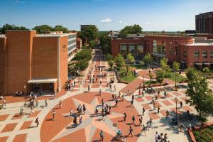 The Virginia Commonwealth University campus in the Monroe Park neighborhood of Richmond, Virginia.
